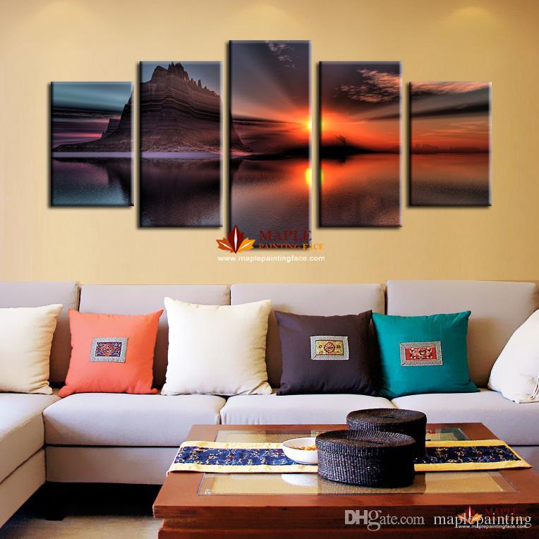 Acheter Livraison Gratuite 5 Pièces Décoration Murale Art Peinture De  Seascape Artwork Pour Salon Moderne Maison Décoration Murale Peinture Toile  Art De ...
