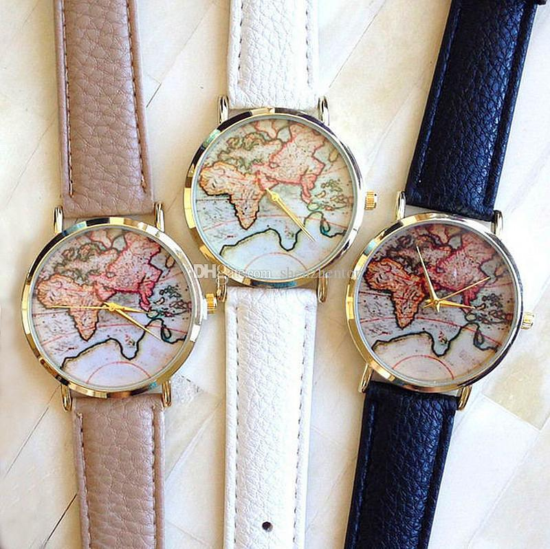 2015 new arrival retro world map watch fashion leather alloy women 2015 new arrival retro world map watch fashion leather alloy women casual analog quartz wrist watch geneva luxury watches online with 205piece on gumiabroncs Image collections