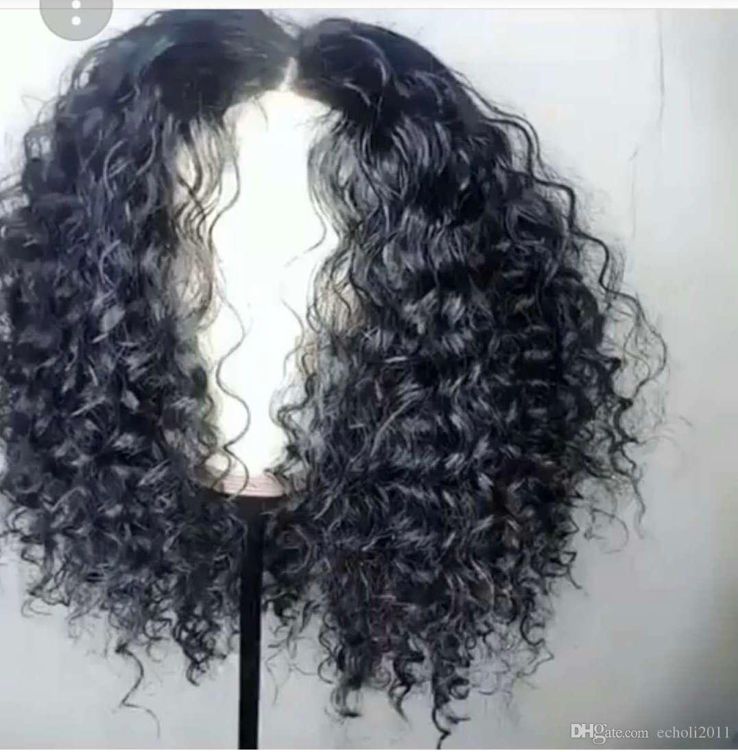 African american black kinky curly lace front wig human hair short full lace wig for black women