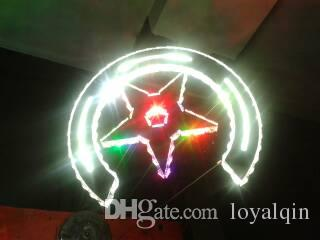 Modern luster star LED bright colorful changeable RGB crystal pendant light ,remote control indoor suspended light