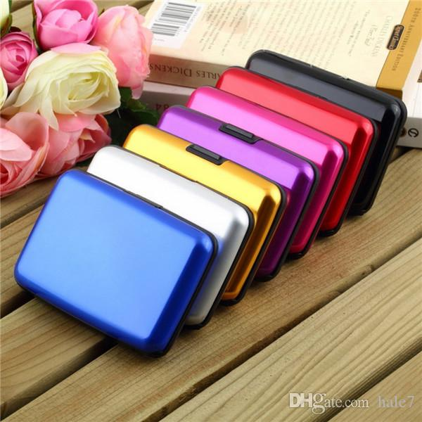 Waterproof business id credit card wallet holder aluminum metal case waterproof business id credit card wallet holder aluminum metal case box multiple colors 2015 hot luxury useful bussiness card holders card holder business reheart Image collections