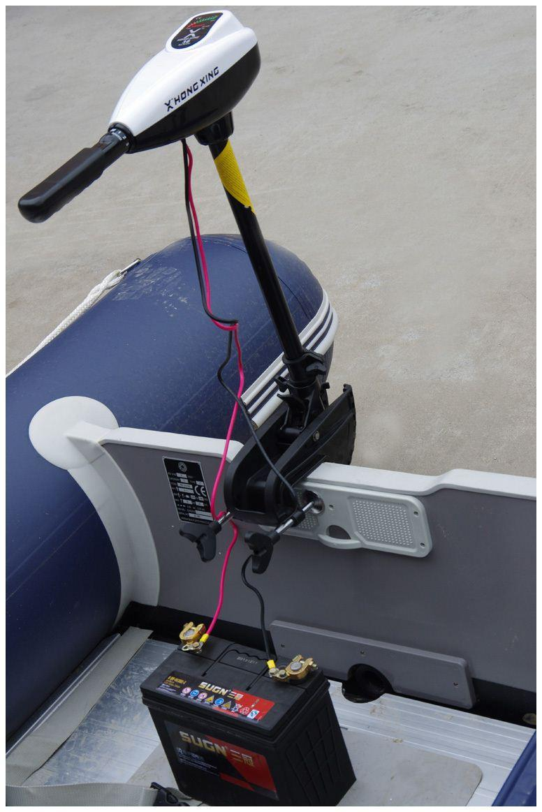 2018 Hx Inflatable Boat Dc Battery Electric Trolling Motor Outboard ...