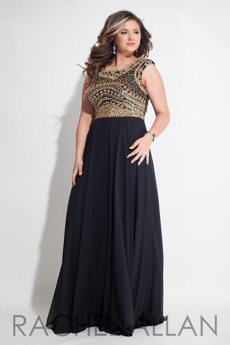 Prom dresses evening plus size black gowns gold beaded for Plus size dresses weddings and proms