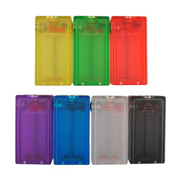 ABS Mod E Caja de cigarrillos Mod con luz colorida 3.7-4.2V Caja de vapor Caja de acrílico ABS Caja Mod En stock