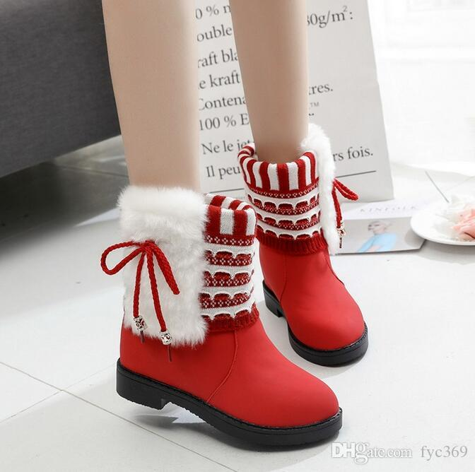 49c7d027c Winter new comfortable warm cotton boots flat bottomed cotton boots wool  short boots size 35~40 free shipping