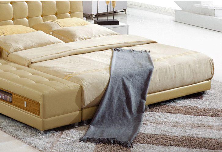 무료 배송 정품 가죽 침대 우아한 스타일 YELLOW DOUBLE PERSON 현대 FASION 좋은 품질 크기 180 * 200cm A29D