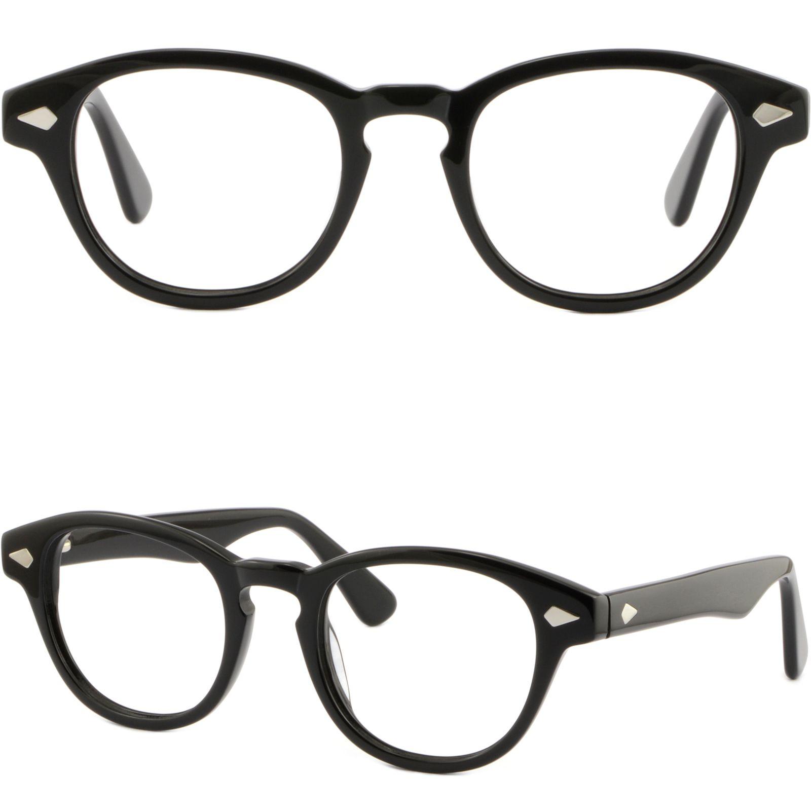 02ccec3e54c3 Men s Women s Thick Plastic Frame Prescription Glasses Shiny Black ...