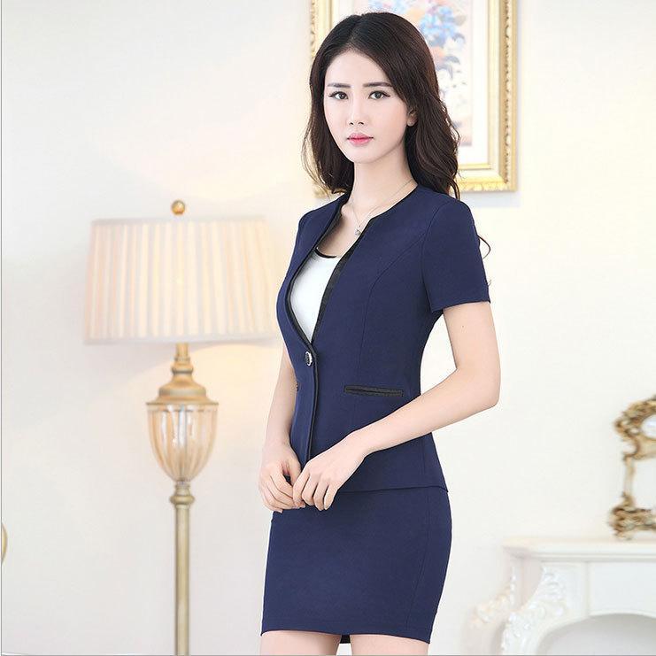 2018 office uniform designs womens suits blazer with skirt 2015