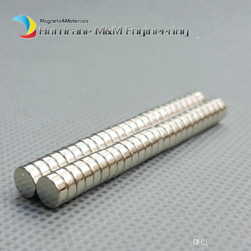 1 pacote Diâmetro 5x2 mm cerca de 0.2 '' Pequeno Ímã NdFeB Disco Ímã Neodímio Ímãs Permanentes NiCuNi Chapeado Axialmente Magnetizado