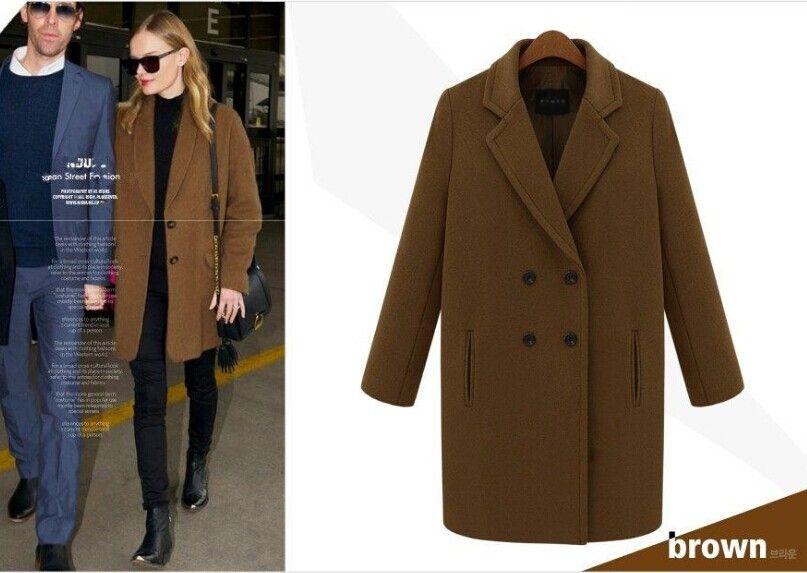 2018 Womens Coats Ladies Runway Clothing Fashion Lapel Long Sleeve ...