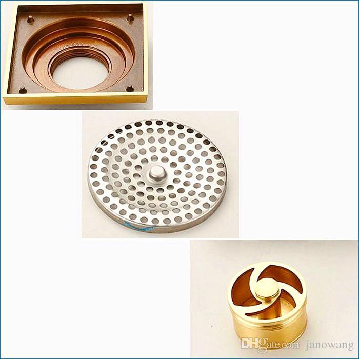 European-style floor drain cover,bronze deodorization floor drain for shower,bathroom Antique Art floor drain,J14269