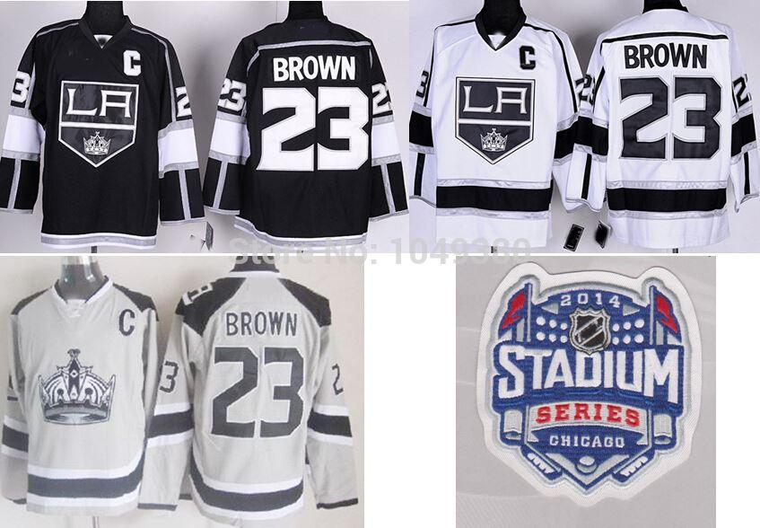 cheap for discount f7fa5 8f18c Wholesale Authentic Los Angeles Kings Team #23 Dustin Brown Jersey Black  Jerseys 2014 Stanley Cup Finals Emblem Free Shipping