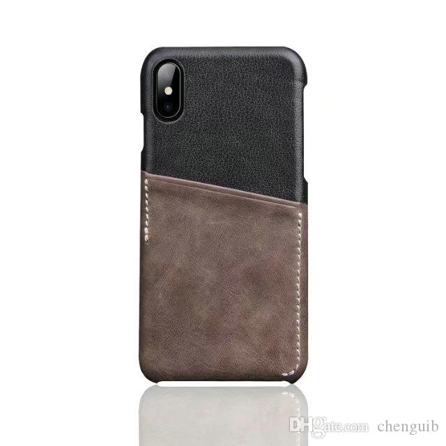 factory outlet! For iphone X 8 7 6 Plus Shockproof Retro Leather TPU Hard Back Case Cover with Credit Card slots Holder for iphoneX 8 7