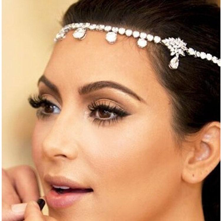 Sparkling Crystals Wedding Hairband Bridal Veil Strass Fascia accessori capelli da sposa Clip di capelli Barrettes Bridal Hair Claws