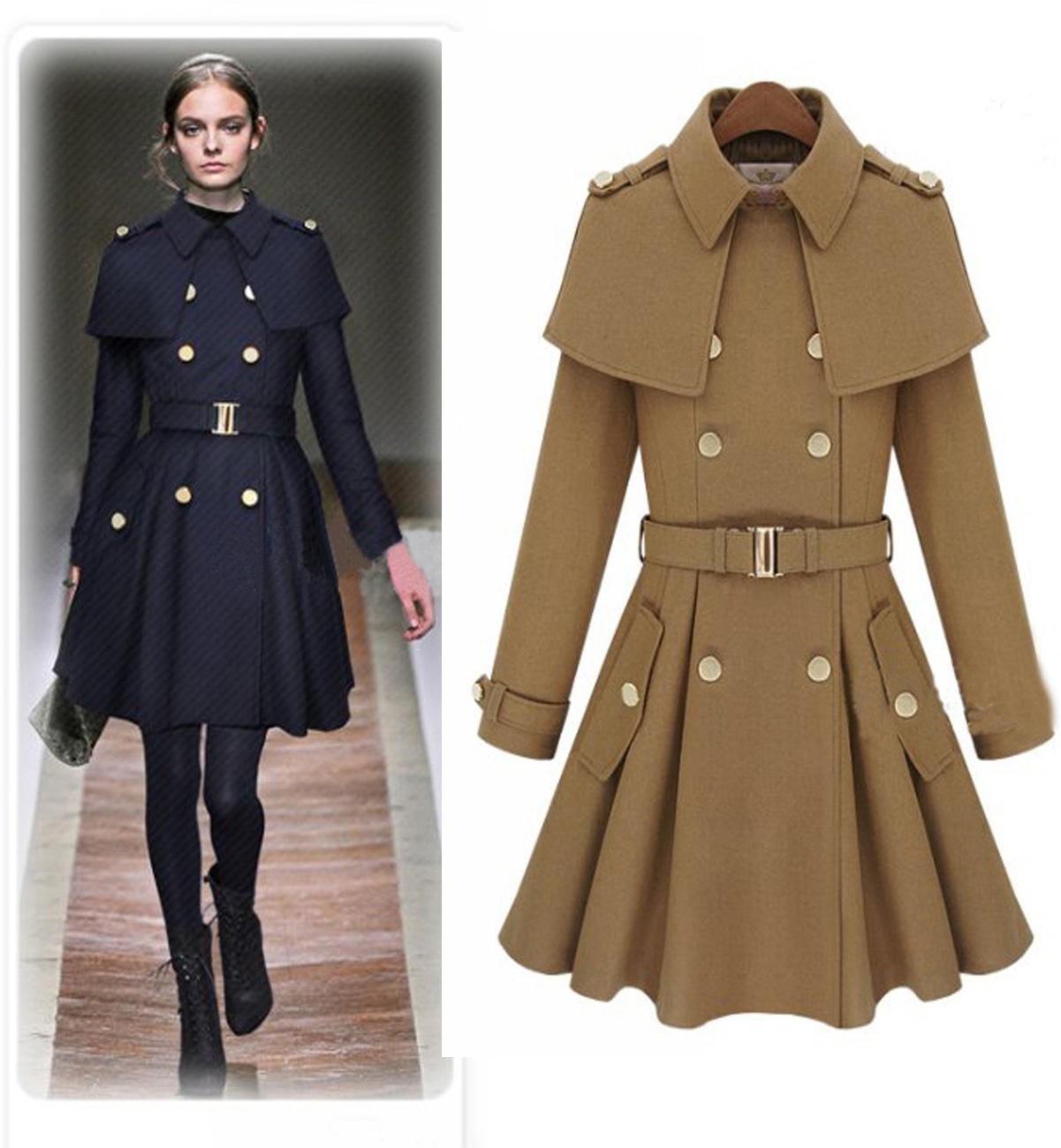 Best Quality New Monde Slim Women'S Coats Women'S Trench Coats ...