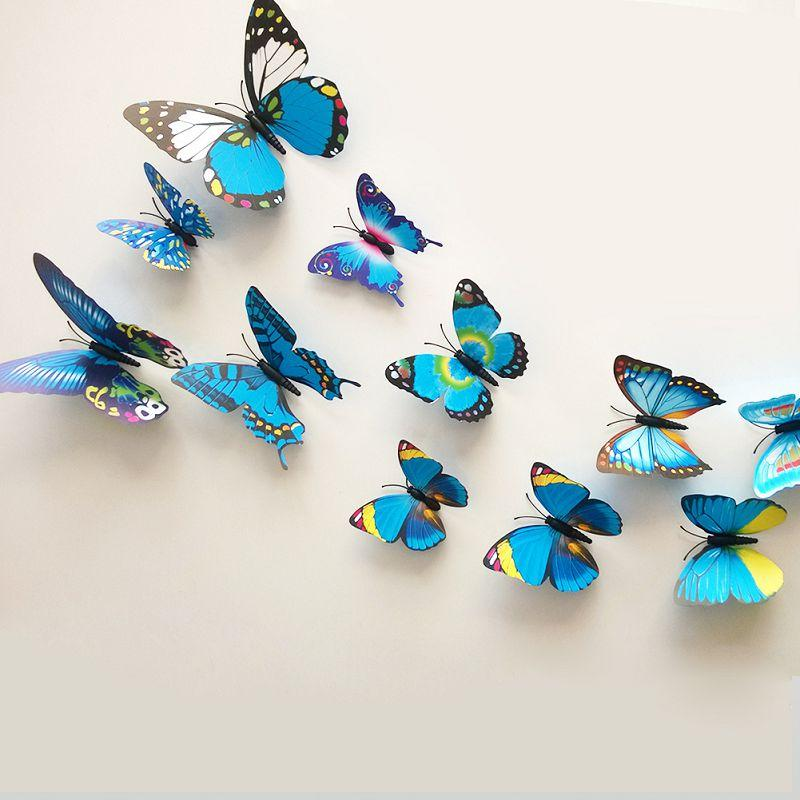 Diy 3d Butterfly Wall Sticker Art Decal Pvc Paper For Living Room Bedroom Kitchen Window Decoration Wall Art Decor Stickers Wall Art Murals Decals Stickers ...  sc 1 st  DHgate.com & Diy 3d Butterfly Wall Sticker Art Decal Pvc Paper For Living Room ...