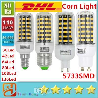 7W 12W 18W 22W 25W 35W는 전구 E27 E14 GU10 G9에 의하여지도 된 빛 매우 밝은 SMD 5733에 의하여지도 된 옥수수 빛 AC 85-265V를지도했습니다