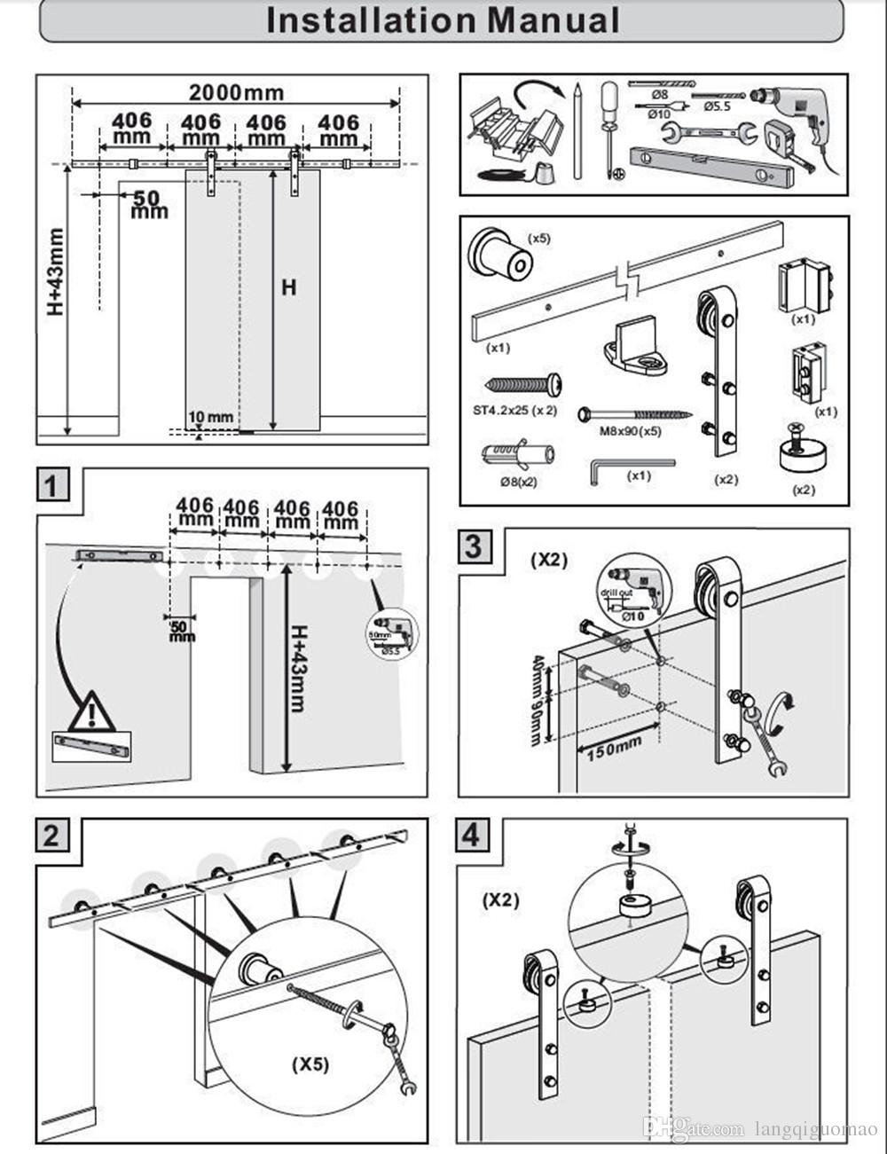 2020 10ft Black Arrow Modern European Steel Wood Sliding Barn Door Track Hardware Set Single Door Kit From Langqiguomao 179 9 Dhgate Com