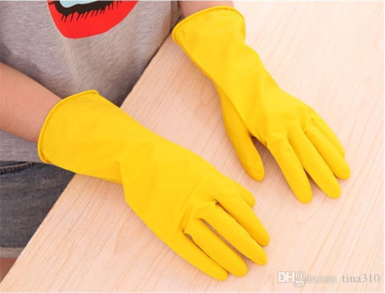 Venda quente Lavar a louça Luvas para uso doméstico Luvas impermeáveis para lavar roupa Luvas antiderrapantes para uso doméstico IA959