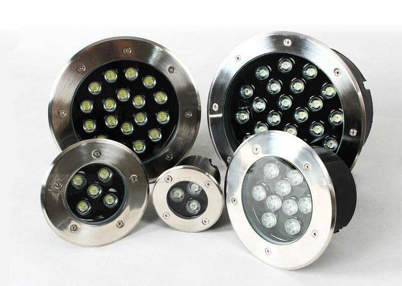 Commercio all'ingrosso 3 W 6 W 10 W 12 W 14 W 18 W 24 W 36 W LED Luce Sotterranea 18 W LED lampada sotterranea AC85-265 V Waterpoof led sotterraneo Spedizione gratuita