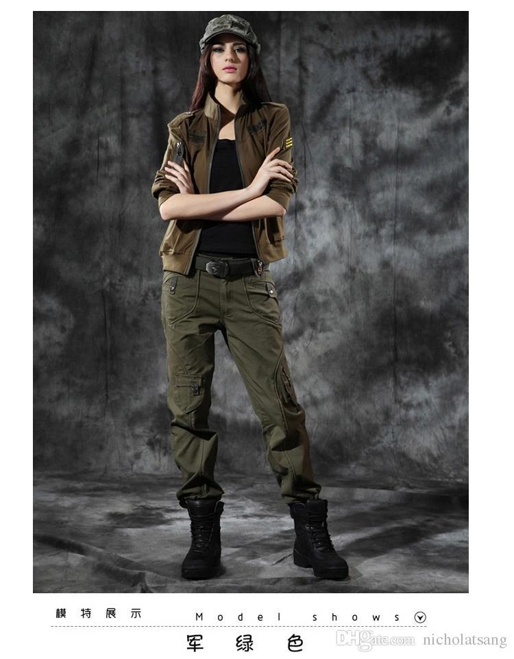 101 Airborne Mode Breien Vrouwen Militaire Broek Camouflage Cargo Broek US Army Union Broek buitenshuis Kleding voor vrouwen 2 kleuren