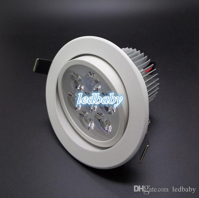 30 unids cuerpo blanco LED 9W 12W 15W 21 DIMMABLE Frío / Cálido LED blanco Empotrable Gabinete Techo Downlight AC85-265V Para Iluminación de la Casa decoración