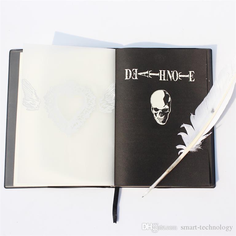 새로운 죽음의 노트 코스프레 노트북 깃털 펜 도서 애니메이션 작문 저널