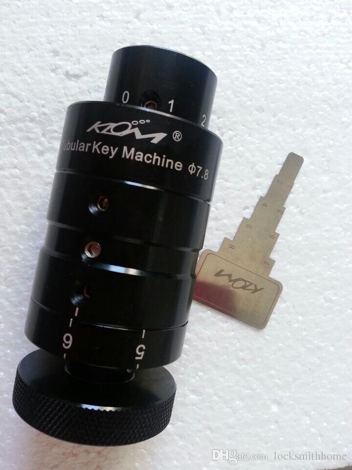 7.5mm& 7.8mm KLOM tubular key machine key cutter ,LOCKSMITH TOOL lock pick set.door lock