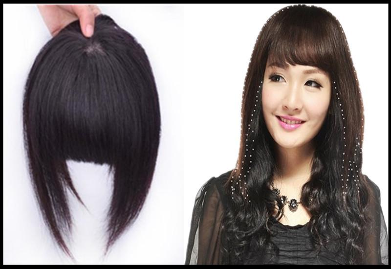 Acheter 100 Bangs Des Cheveux Humains Clip In Girls Bang Fringe Extensions De Impeccables Natural Avec Sables 30g