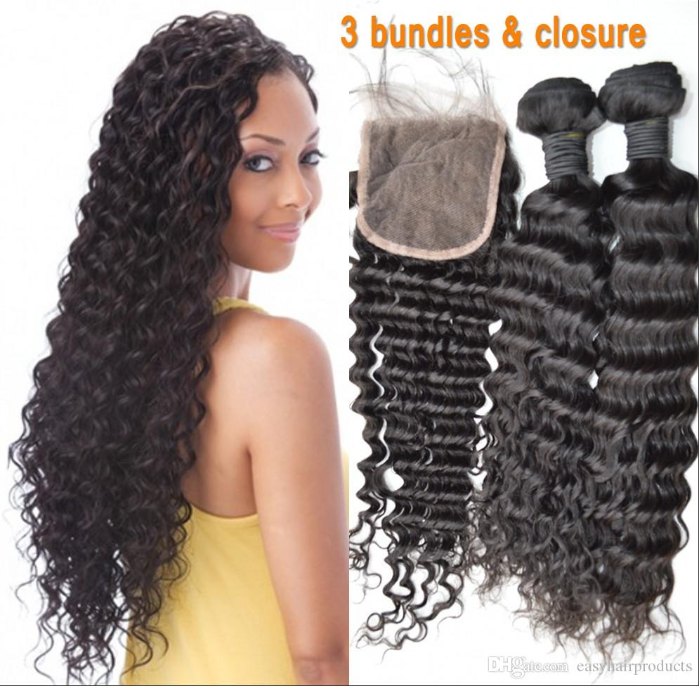 Cheap deep wave virgin mongolian human hair weave with closure g cheap deep wave virgin mongolian human hair weave with closure g easy human hair bundles with lace closure hot selling good cheap hair weave black hair pmusecretfo Image collections