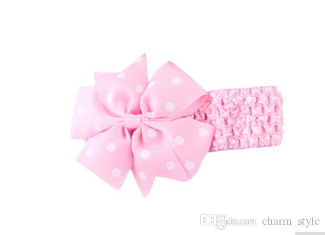 5%offStylish Baby Headbands Girl's Flower Hair Bow Wave Head Wear Hair Accessory hair band for 1 to 3 Years Kids