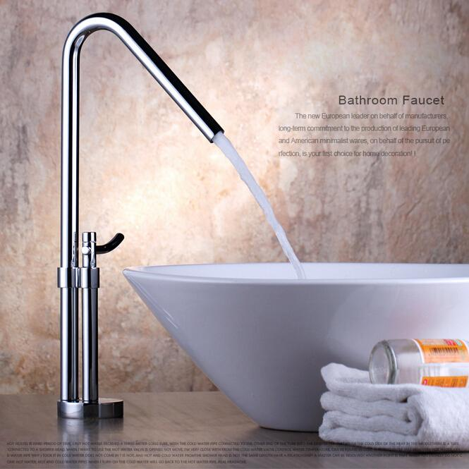 Best Newest Contemporary Design Solid Brass Bathroom Faucet Tall ...