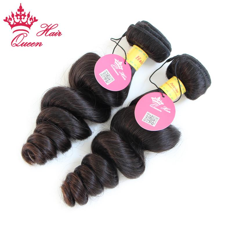 Cabello peruano pelo suelto de la onda 4 unids / lote color natural precio de fábrica del cabello humano DHL envío gratis