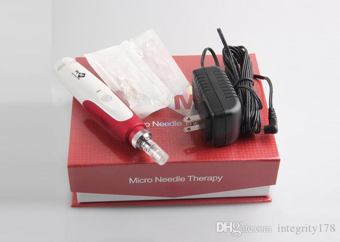 MYM Micro-Needle Derma 페이셜 레 쥬 베 네이션 전기 진동 Derma Stamp 자동 Derma 펜 52 개 카트리지
