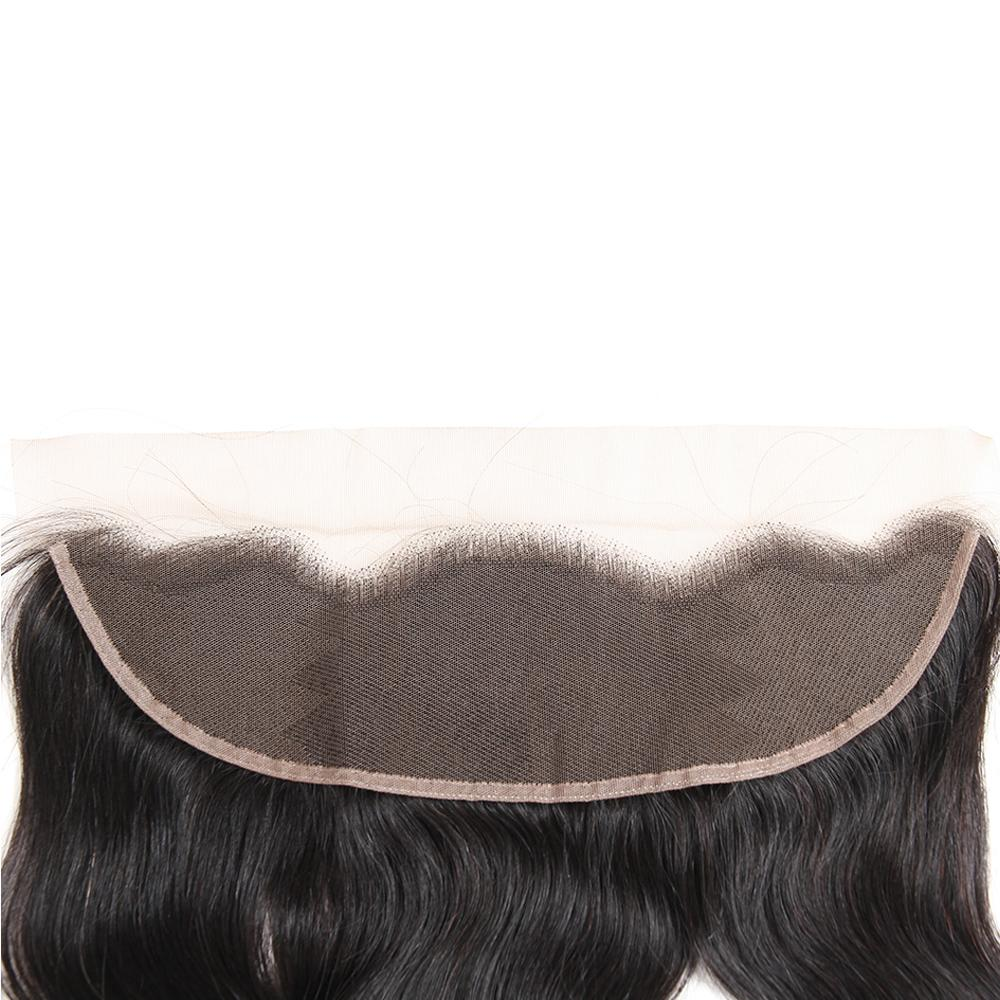 Manojos brasileños del pelo humano de la Virgen de la Onda del cuerpo con el cierre frontal del cordón Extensiones naturales del cabello humano natural de la Onda del cuerpo de la onda peruana brasileña