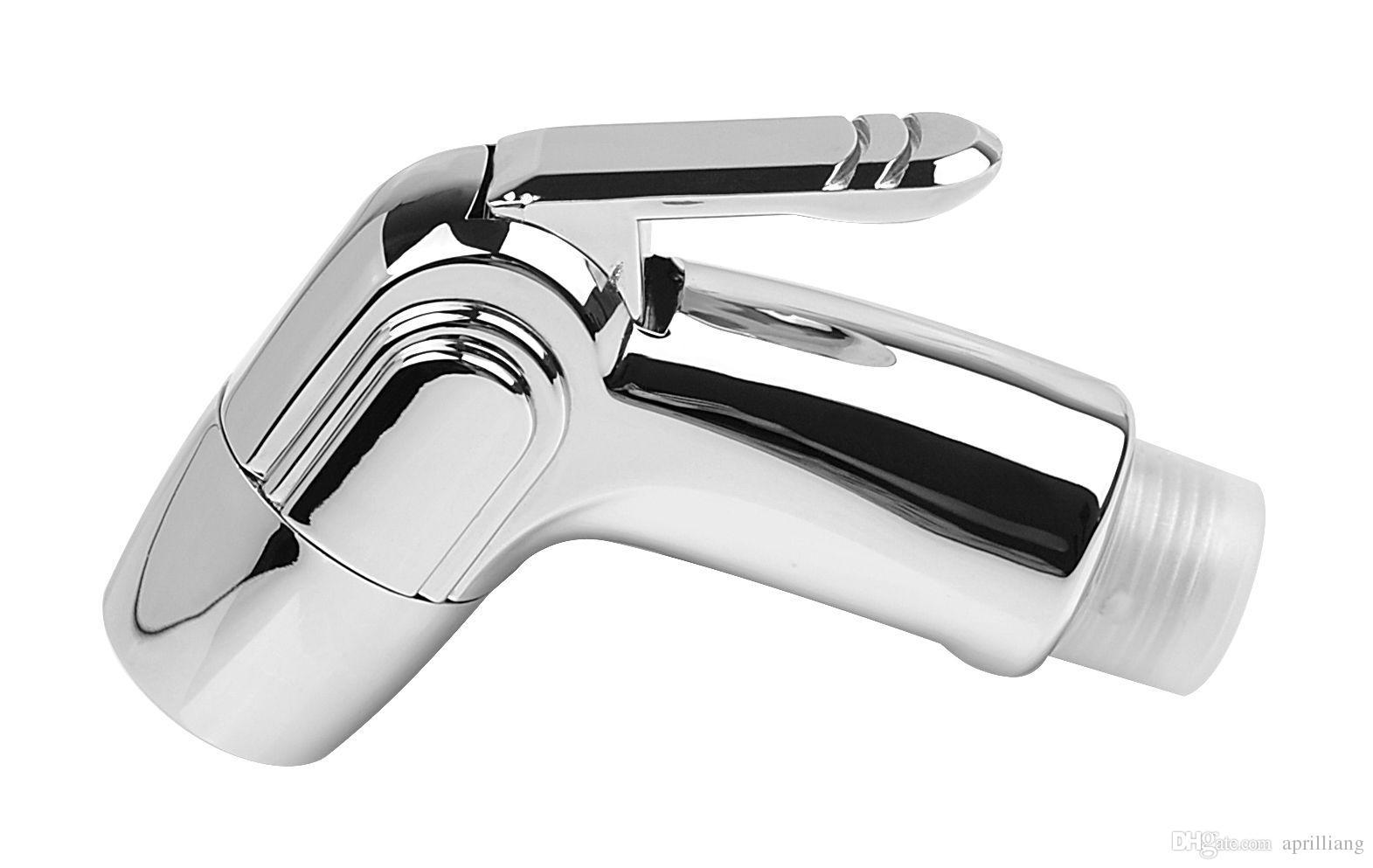 Heißer verkauf Chrom shattaf wc ABS bidet sprühkopf mit hotcold wasser Waschen mischventil