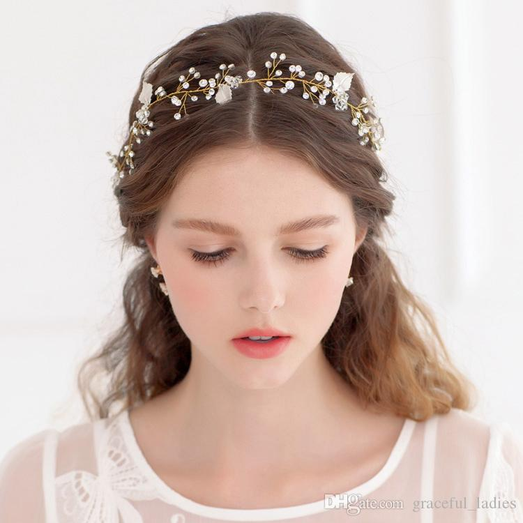 Simple Cheap Wedding Tiaras Bridal Hair Accessories No Fading Factory Wholesale Multi Wear Ways Bands For Women Bridesmaid Jewelry