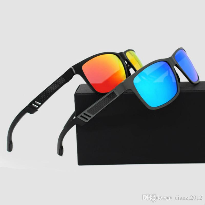 bd8465a4b2 HD Aluminum Magnesium Sunglasses Men Brand Sports Driving Glasses Fishing  Polarized Sunglasses 57mm Lens Glasses Goggles Eyewear Accessories Black ...