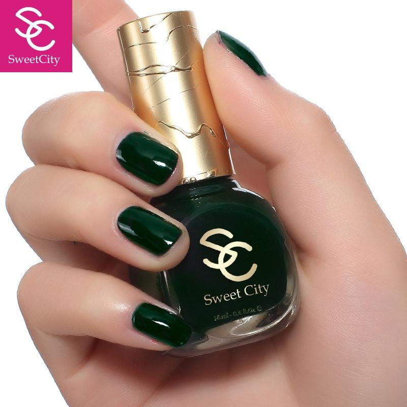Wholesale SweetCity Brand High Quality Quick Dry Nail DarkGreen Nail ...