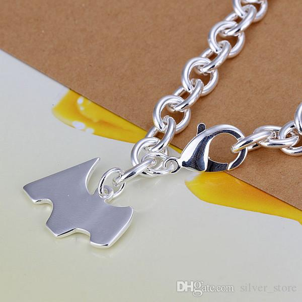 رابط حار بيع أفضل هدية 925 الفضة الكلب العلامة سوار الخام DFMCH271، العلامة التجارية الجديدة أزياء 925 الفضة الاسترليني مطلي سلسلة أساور درجة عالية