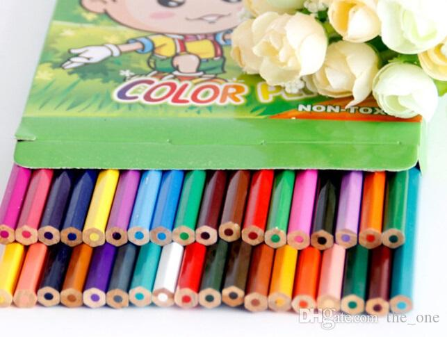 PrettyBaby Natural Wooden Color Pencil Set Drawing Books Painting ...
