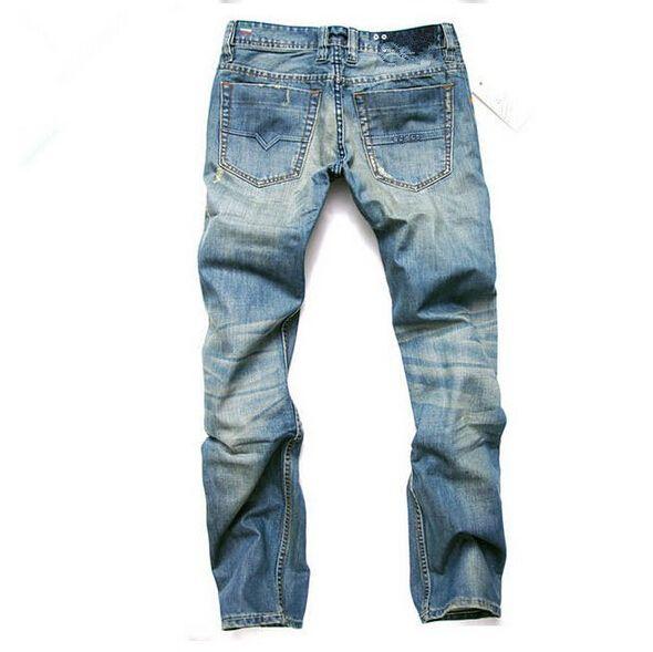 Moda Erkekler Kot Erkek Ince Rahat Pantolon Elastik Pantolon Açık Mavi Fit Gevşek Pamuk Denim Marka Kot Erkek Için