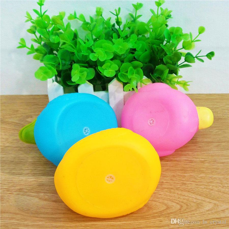 Creative Cartoon Duck Safety Rubber Dolls Baby Bath Water Toys Press Sounds Kids Sand Play Water Fun Kids Swimming Toys SK575