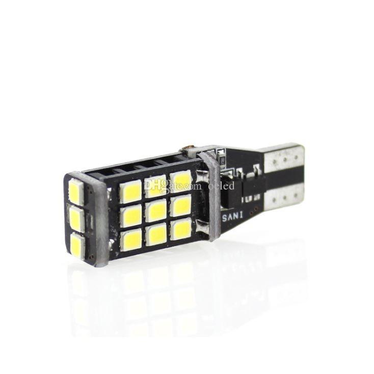 2x White Led Canbus Bulb T15 2835 Chip 21 LED Light Lamp Car Auto Clearance Lights Bulb Reverse Backup Lights 12V Tail Bulb