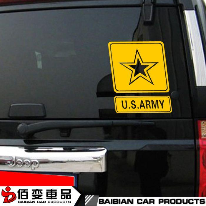 Custom car stickers jeep jeep usa military standard off road car scratches reflective stickers personalized decorative garland exterior parts of car