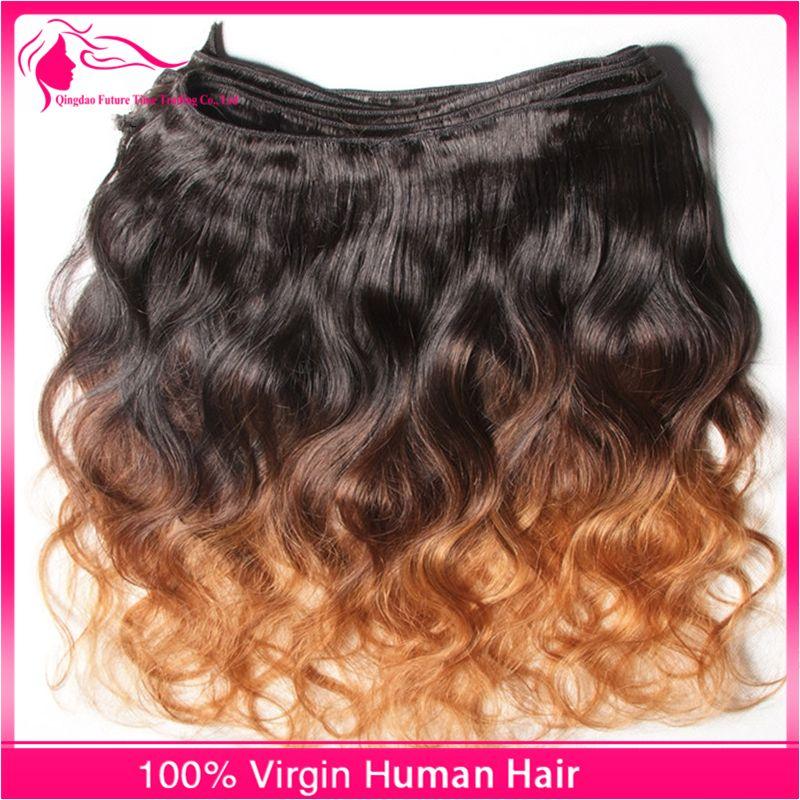 9A Grado Peruviano Ombre Hair Extensions 1B / 4/30 Ombre Capelli Umani Tesse 3 Bundles Lotto 10-30 pollici Onda Del Corpo Ombre Capelli