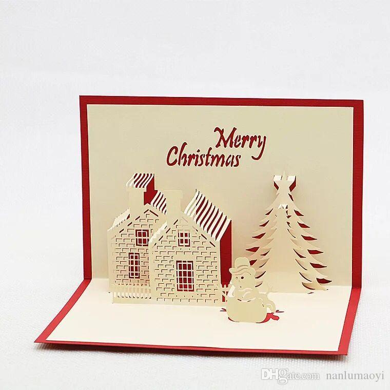 3d christmas greeting cards handmade creative christmas xmas party 3d christmas greeting cards handmade creative christmas xmas party invitations greeting cards tree paper festival gifts christmas decorations 3d festive m4hsunfo