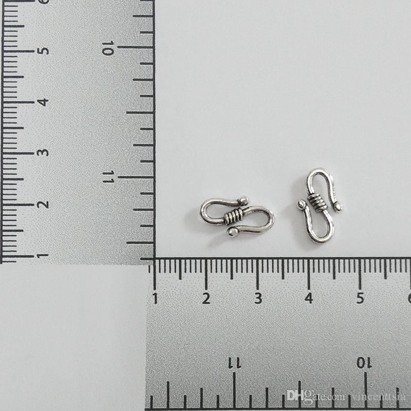 S-Form Halskette Stecker Armband Seile Schnüre Haken Haken Crimps Ende Schmuck machen Ergebnisse beenden Verschluss Schnalle Collier Accessor