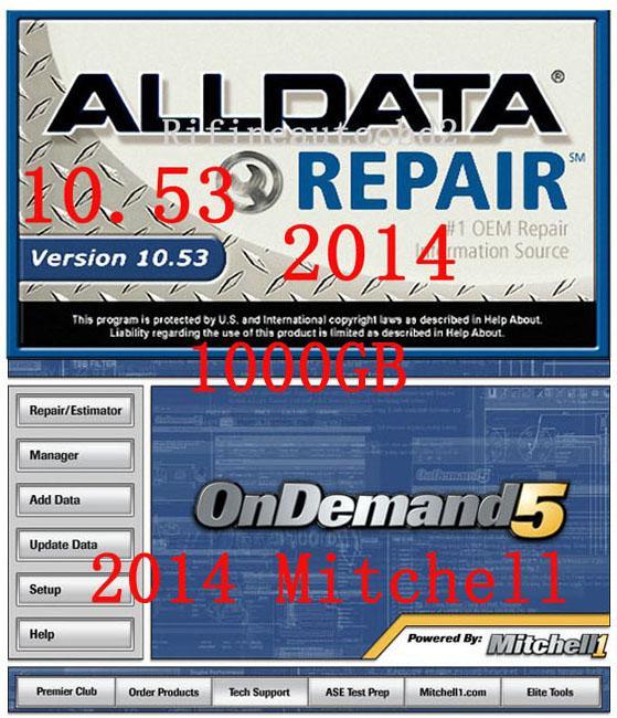 Großhandel 2014 Alldata 10.53 Und 2013 Mitchell 5.8 Auto Reparatur ...