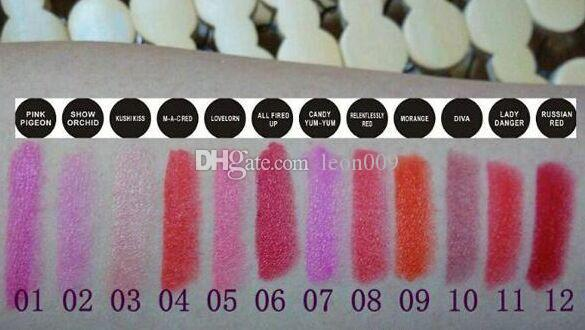 HOT Brand Makeup Rebel Luster frost matte lip stick 3g lipstick with english name